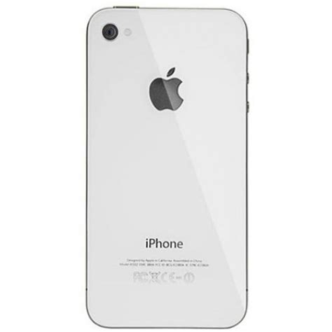 Iphone Backcover White 4 4s by Iphone 4s Back Cover White