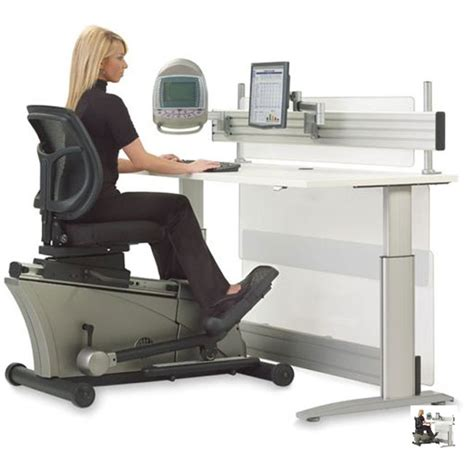 elliptical machine office desk lets you huff while you