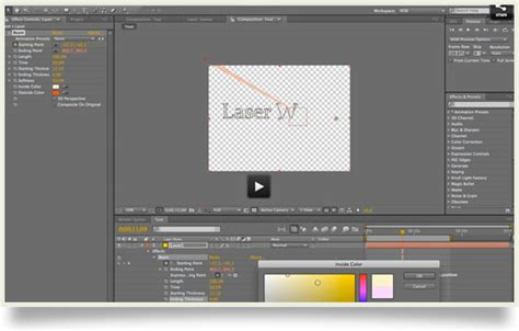 tutorial after effect laser laser writing text in after effects tutorial