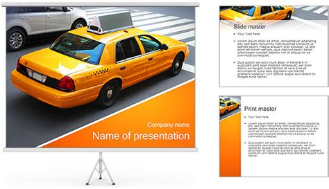 Taxi Drive Powerpoint Template Backgrounds Id 0000002823 Drive Presentation Templates