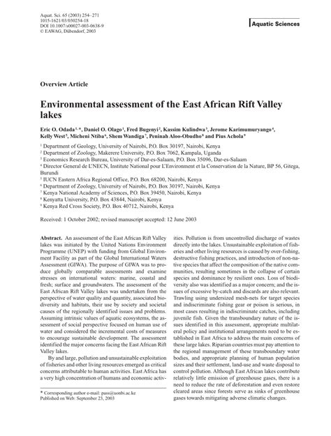 Rift Valley Universty Mba Reserch Pdf by Environmental Assessment Of The East Pdf
