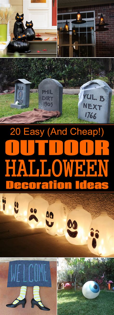 outside home decorating ideas 20 easy and cheap diy outdoor decoration ideas