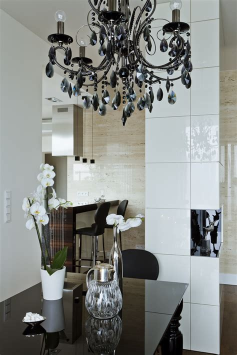 Black Dining Room Chandelier Black Chandelier Interior Design Ideas