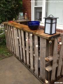 Outside Bar Plans by Recycled Pallet Outdoor Bar Ideas Pallet Furniture Projects