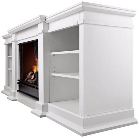 Ventless Gel Fireplace Reviews by White Fresno Ventless Gel Fireplace By Real