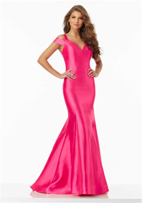 New Dress Satin larissa satin prom dress with ruffled skirt style 99007