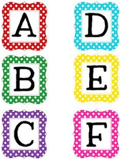 printable letters bulletin boards free polka dot calendar numbers 3 pages early