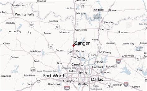 sanger texas map sanger texas location guide