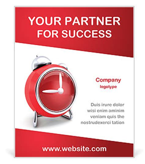 read poster template clock poster template design id 0000002270