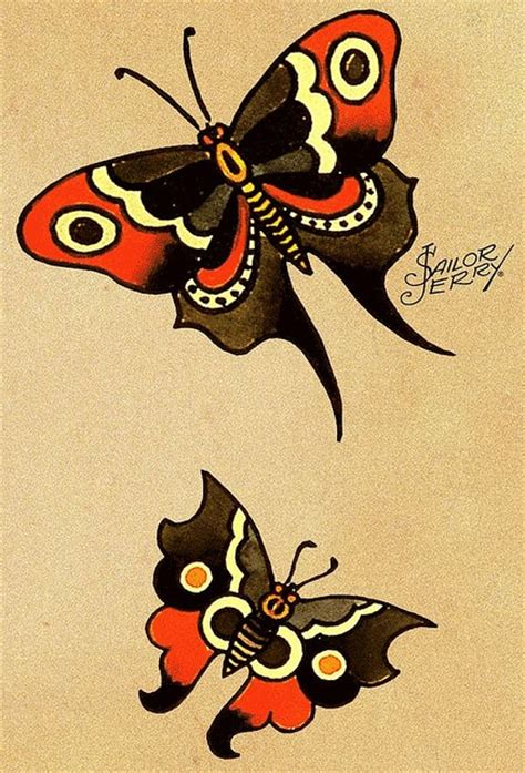 sailor jerry tattoo design sailor jerry butterfly sailor jerry style