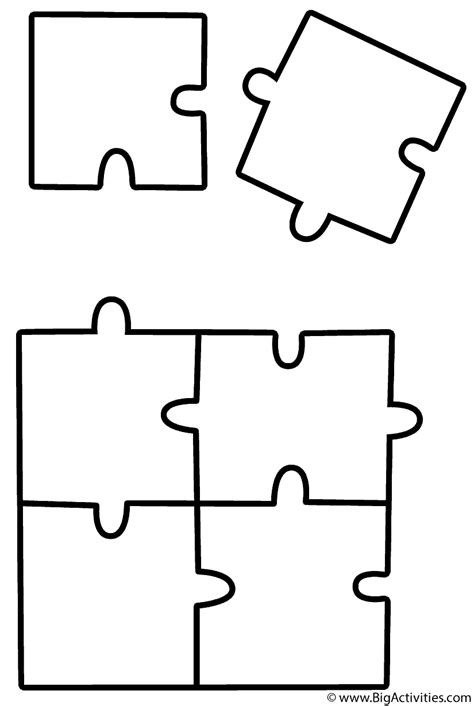 puzzle piece coloring sheet coloring pages
