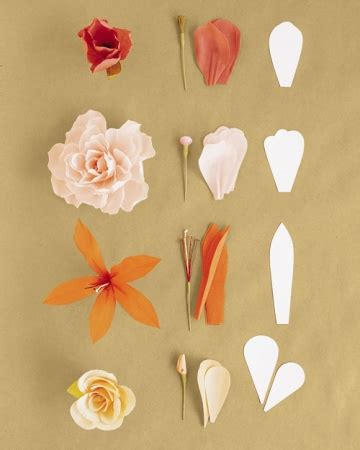 How To Make Paper Flowers Martha Stewart - how to make crepe paper flowers martha stewart