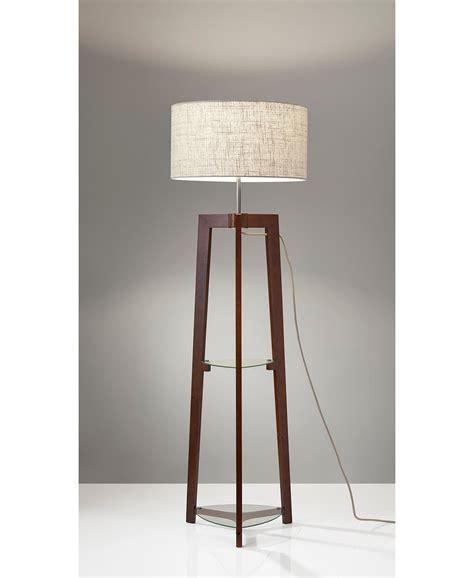adesso henderson shelf floor lamp reviews  lighting