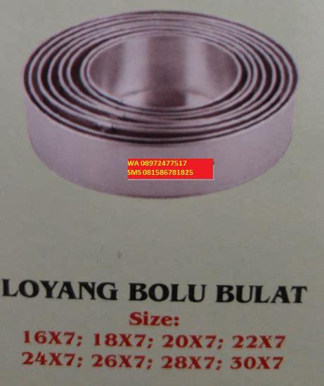 Loyang Tangga Bulat jual perlengkapan dapur alat rumah tangga stainless cetakan kue murah bekasi wa 08972477 517