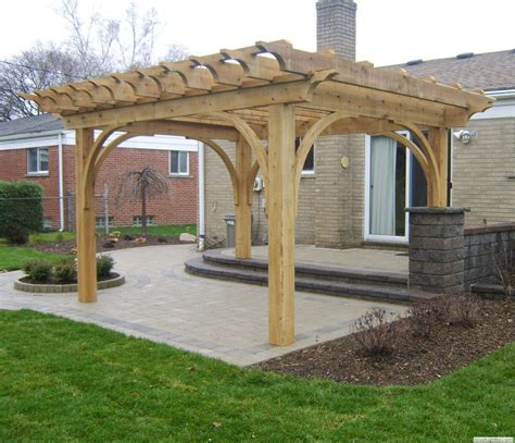 Southeastern Michigan Custom Pergolas Timber Structures Pergola On A Deck