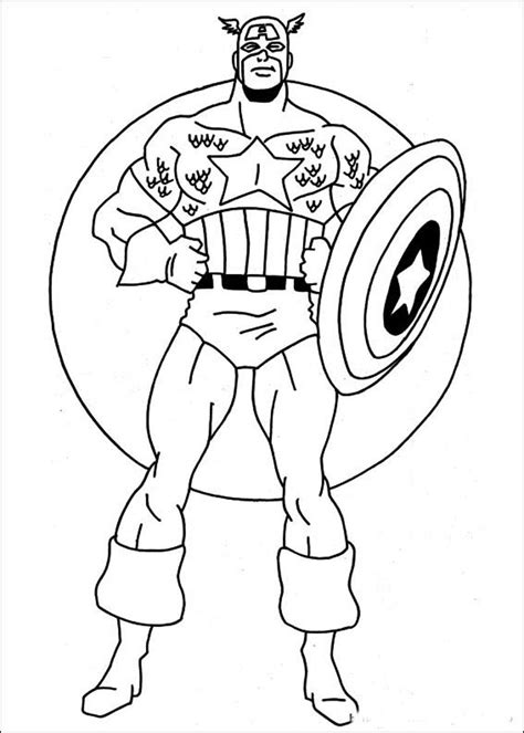 Captin America Shield Coloring Pages Captain America Color Page