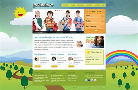 child theme template 10 awesome themes for child care industry