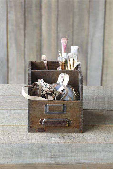 Antique Wooden Drawer Desktop Organizer for Art, Sewing