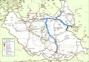 detailed map of cities and towns large detailed map of south sudan with cities and towns