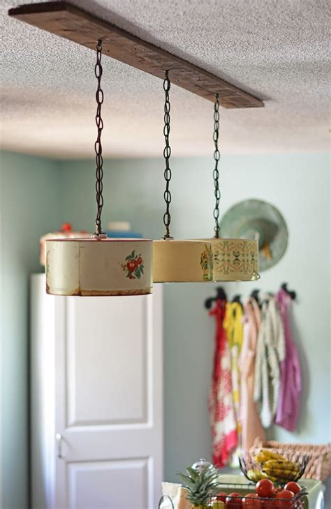 diy kitchen light fixtures how to upcycle vintage cake tins to diy light fixtures