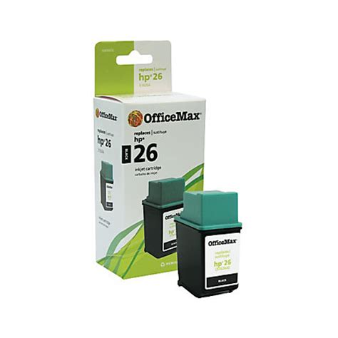 officemax om98676 hp 26a 51626a remanufactured black ink