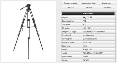 Tripod Libec Th 650hd gear libec hfmp monopod and libec th x tripod hd pro