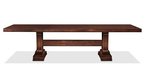 hunstville solid cherry wood trestle dining table