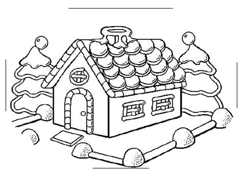 Christmas Coloring Pages Gingerbread House Coloring Home Coloring Page Gingerbread House