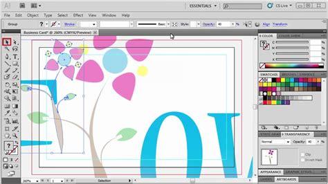 adobe illustrator cs5 pattern tutorial 3 5 making a business card adobe illustrator cs5 youtube