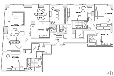 manhattan apartment floor plans stylish home a manhattan apartment decorated by vicente wolf