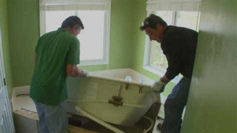 removing  whirlpool tub video diy