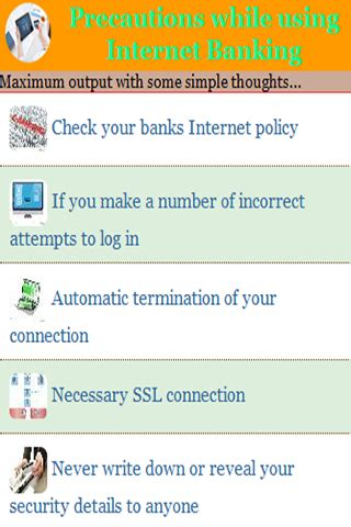 free precautions while using internet banking apk download