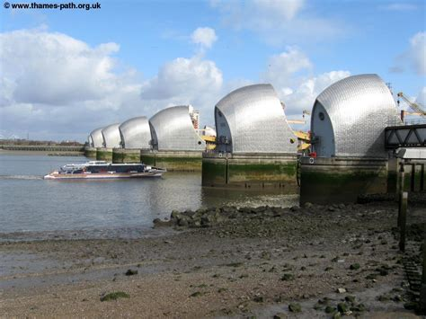 thames barrier length the thames path the thames barrier to crayford