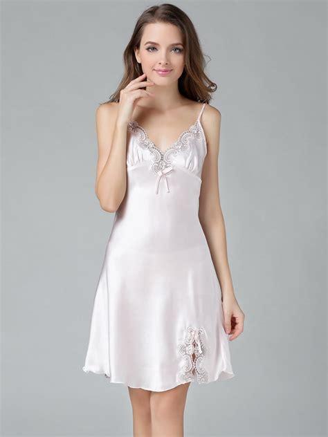 lingerie de satin chemises for women silk chemise slips sleep with pure