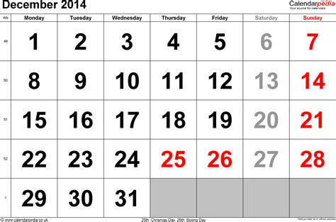 calendar december 2014 uk bank holidays excel pdf word