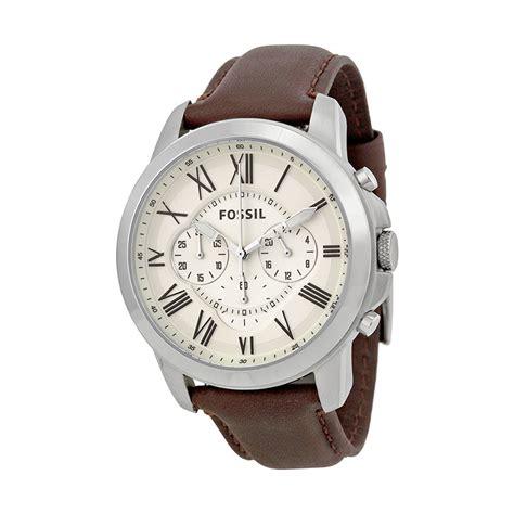 Jam Tangan Pria Fossil 10089 jual fossil grant chronograph egg shell fs4735 jam tangan pria harga kualitas