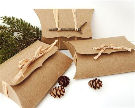 Gift Card Pillow Box - pillow boxes 50 recycled kraft diy wedding favor box
