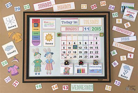 Toddler Calendar Diy Toddler Calender Magnet Board Lots Of Free Printables