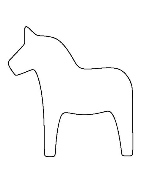 pattern outline dala horse pattern use the printable outline for crafts