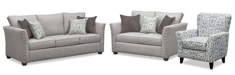 sofa and accent chair set mckenna sofa pewter american signature furniture