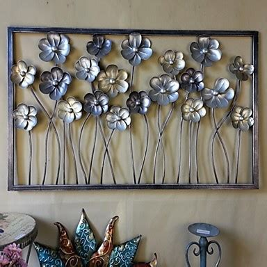 metal wall wall decor the flowers were blossoming open