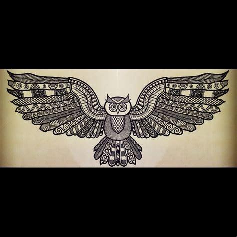 owl tattoo aztec aztec owl crafting stencil transfer print paint