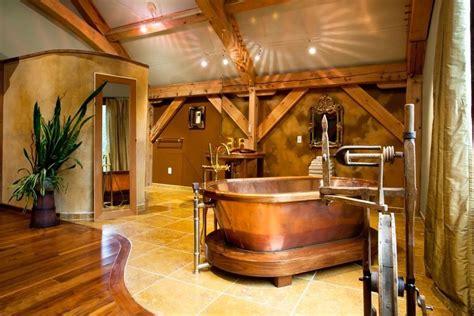 bathroom best rustic bathroom decor ideas style 20 rustic bathroom designs with copper bathtub