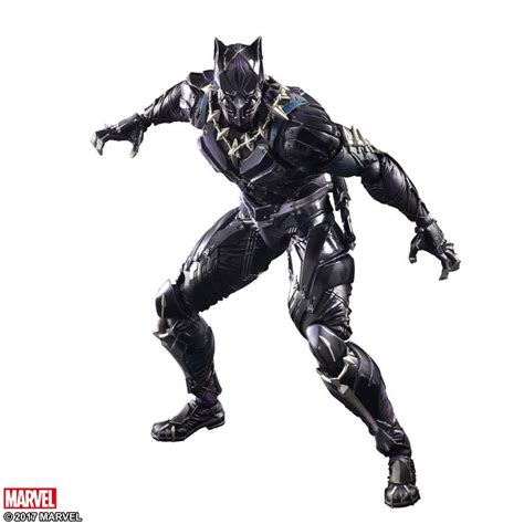 figure variant marvel black panther variant play arts 11 figure