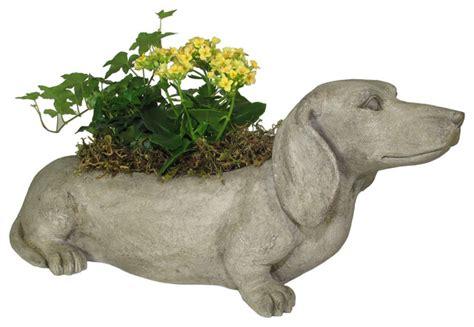 dachshund planter expo decor llc dachshund planter outdoor pots and