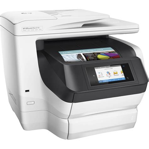 Printer Hp Officejet All In One hp officejet pro 8740 all in one inkjet printer k7s42a b1h b h