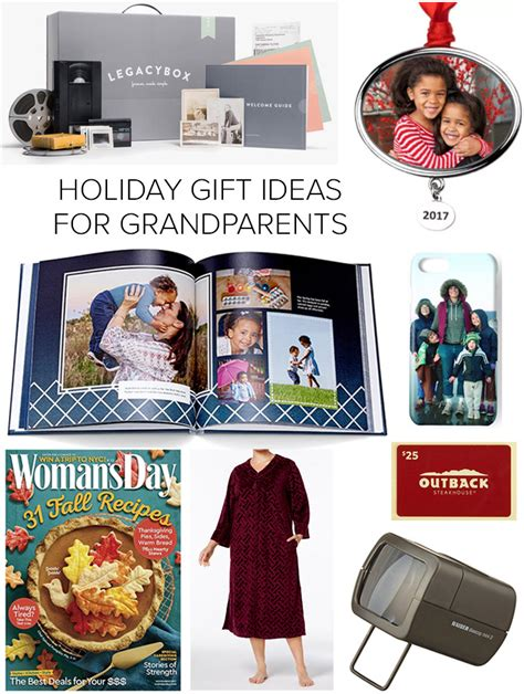holiday gift ideas for elderly parents grandparents