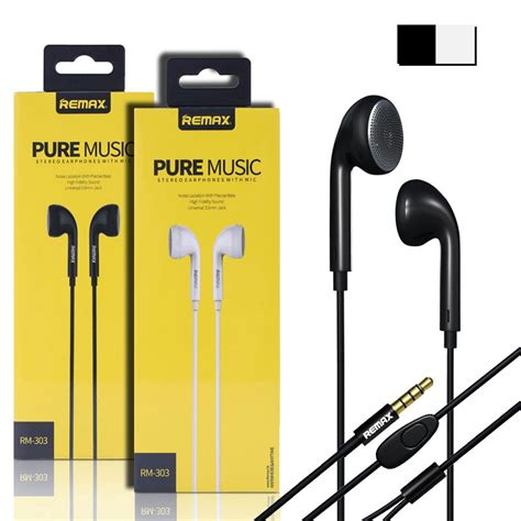R Remax Earphone Rm 305m original remax rm 303 surround headset black white