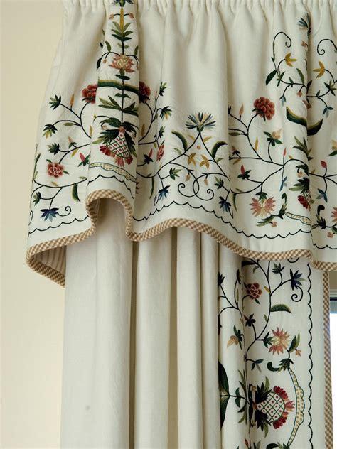 embroidery curtains photos hgtv