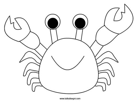 Outline Of A Crab Coloring Pages Crab Colouring Pages